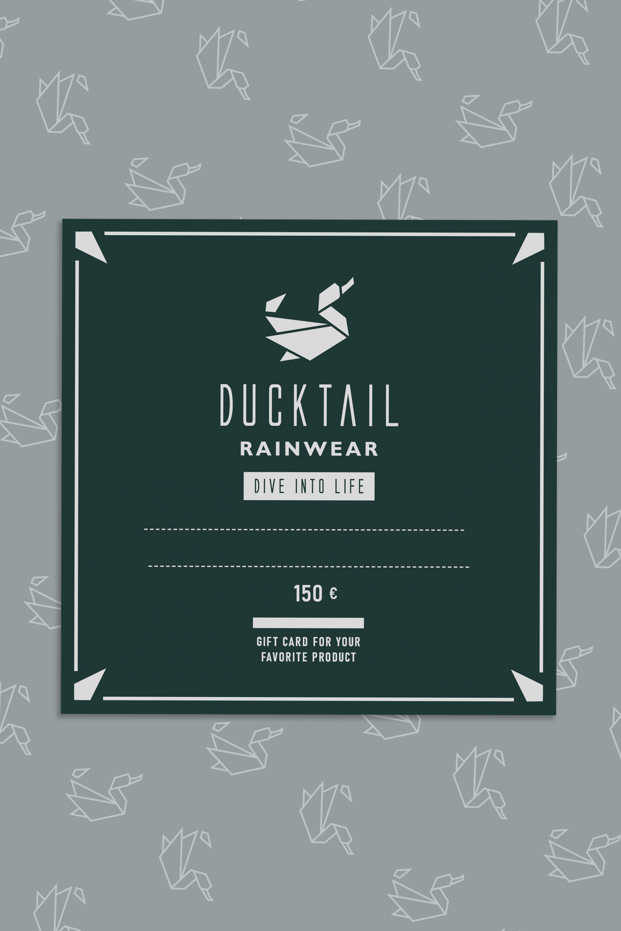 Ducktail gift card
