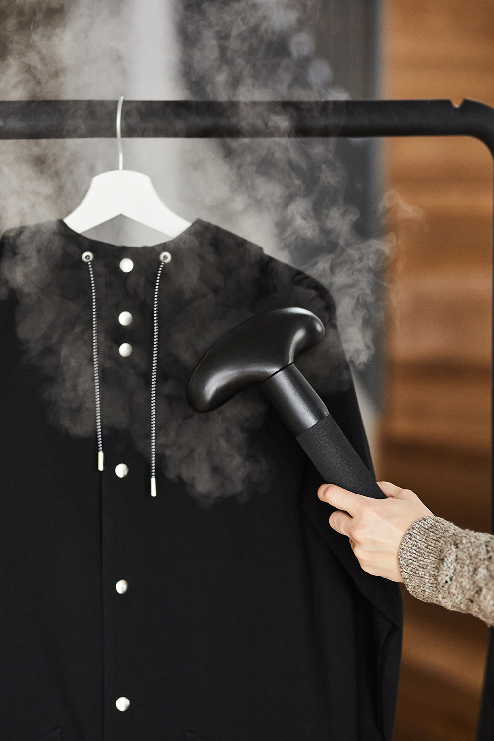steam your raincoat instead of ironing